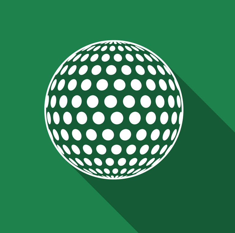 golf ball flat icon png