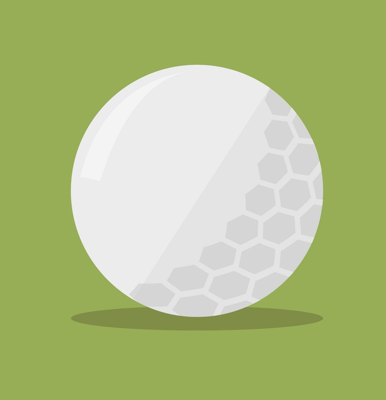 golf ball flat icon