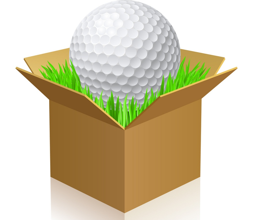 golf ball in a box