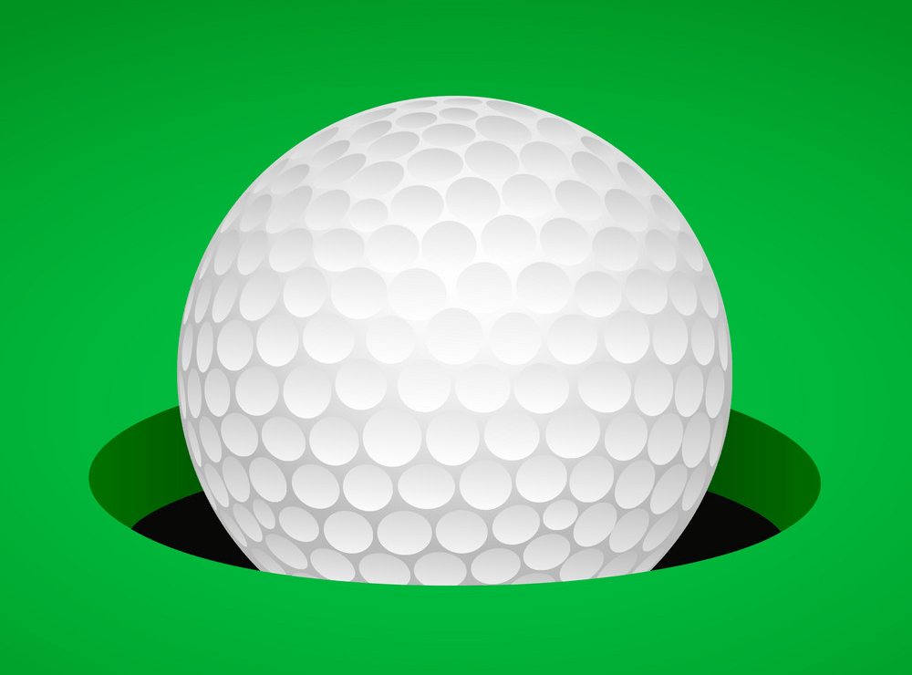 golf ball in cup png