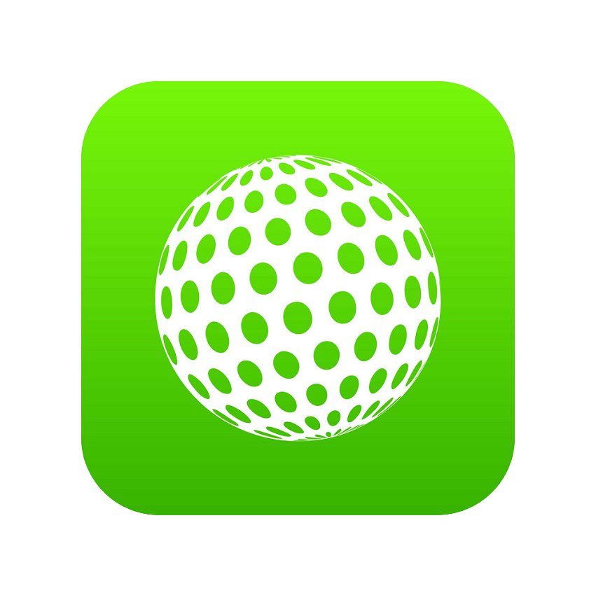 golf ball logo png transparent