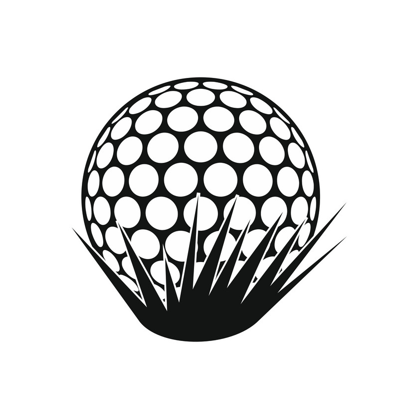 golf ball on grass icon png