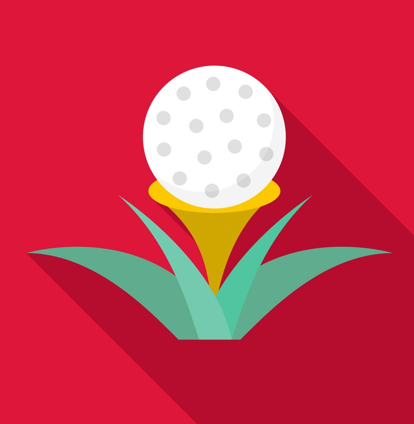 golf ball on tee icon