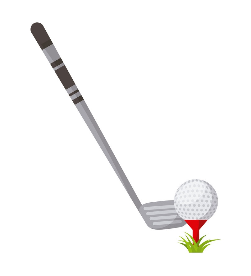 golf stick and ball