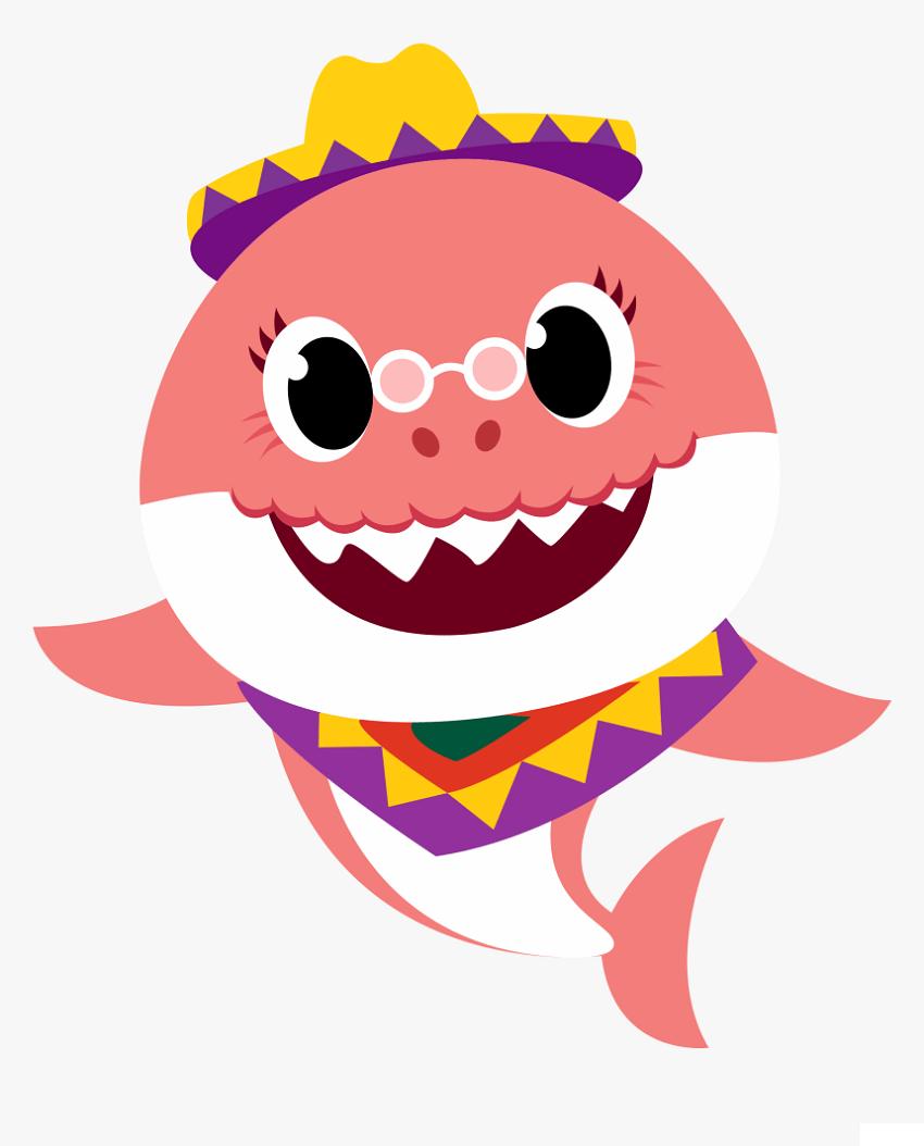 grandma shark with hat png