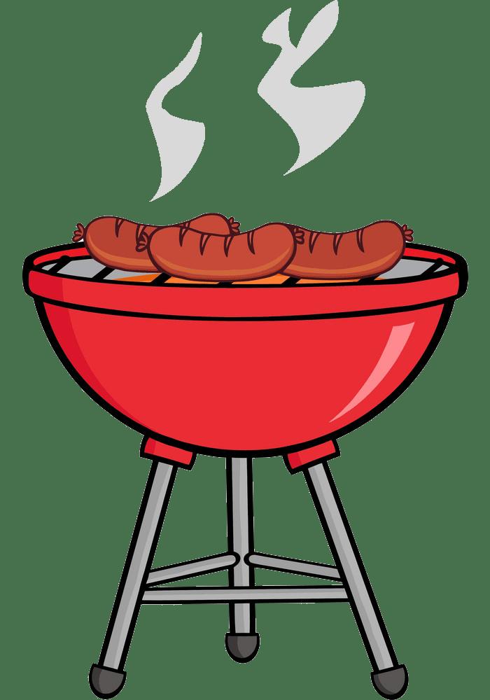 grilled sausages on bbq png transparent