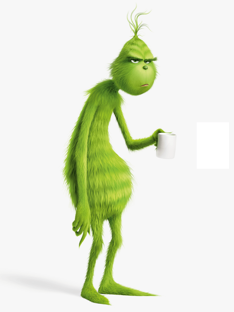 grinch and coffee cup png