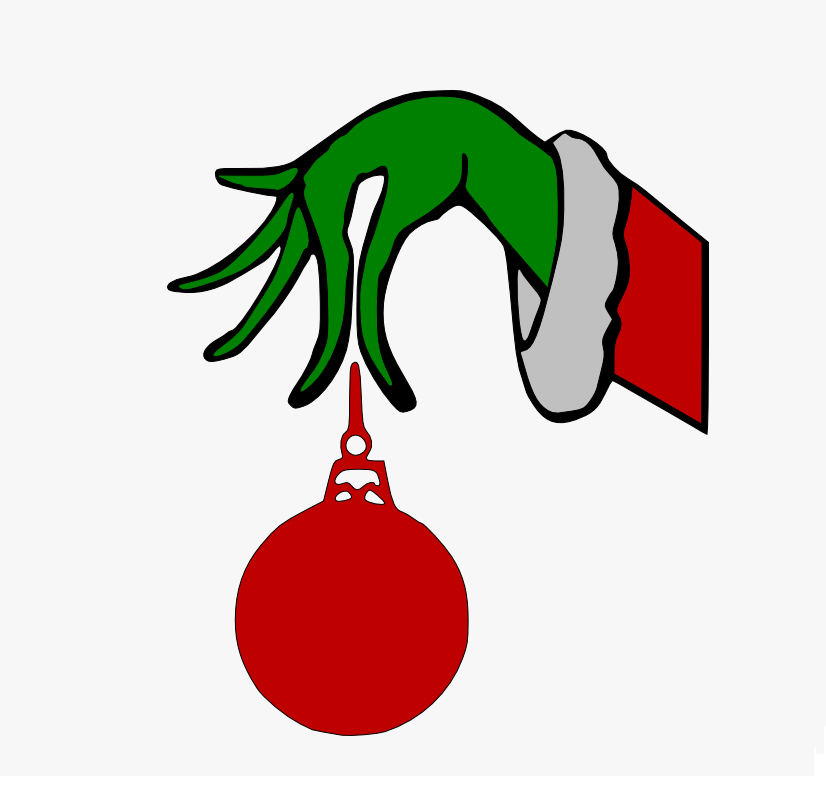 grinch arm holding ornament png