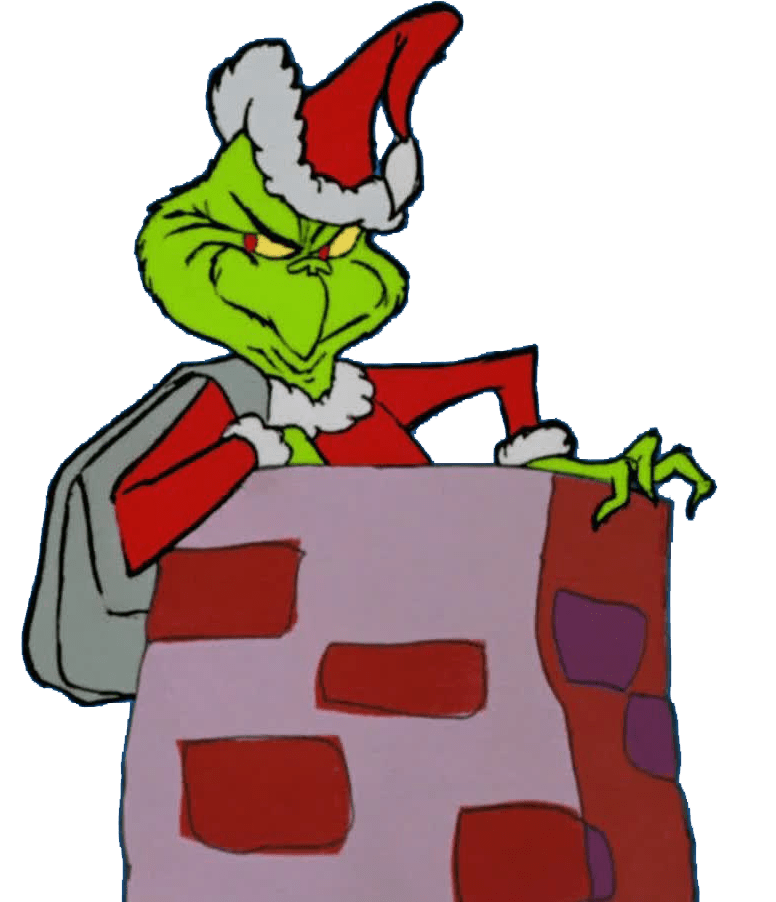 grinch inside the chimney png