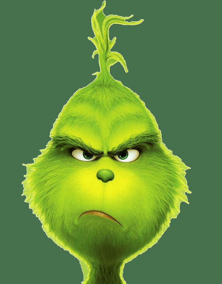 grinch unhappy face transparent