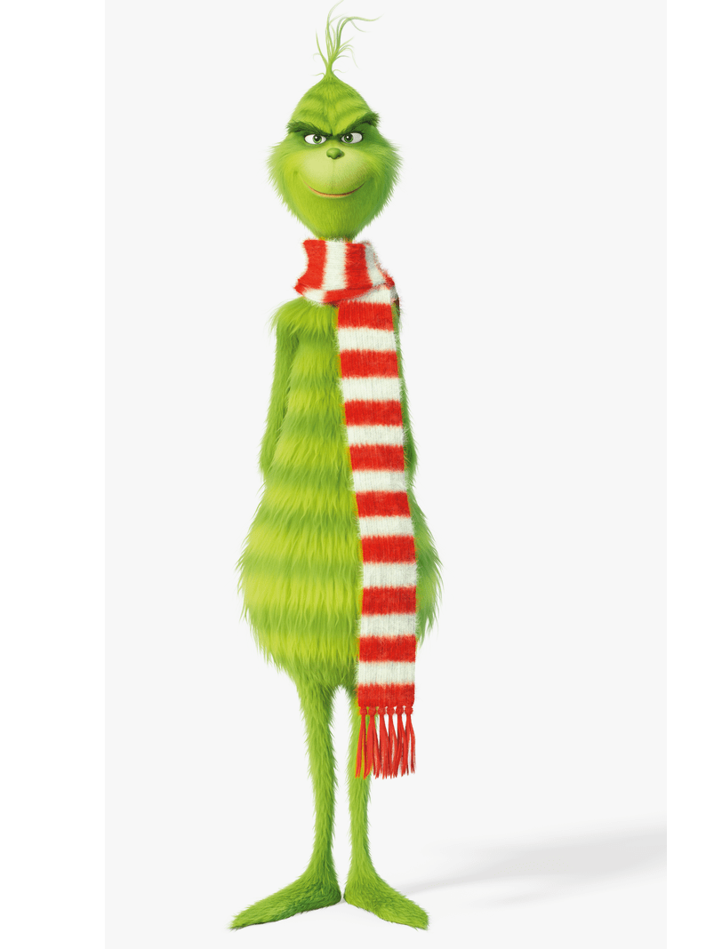 grinch wears scarf png