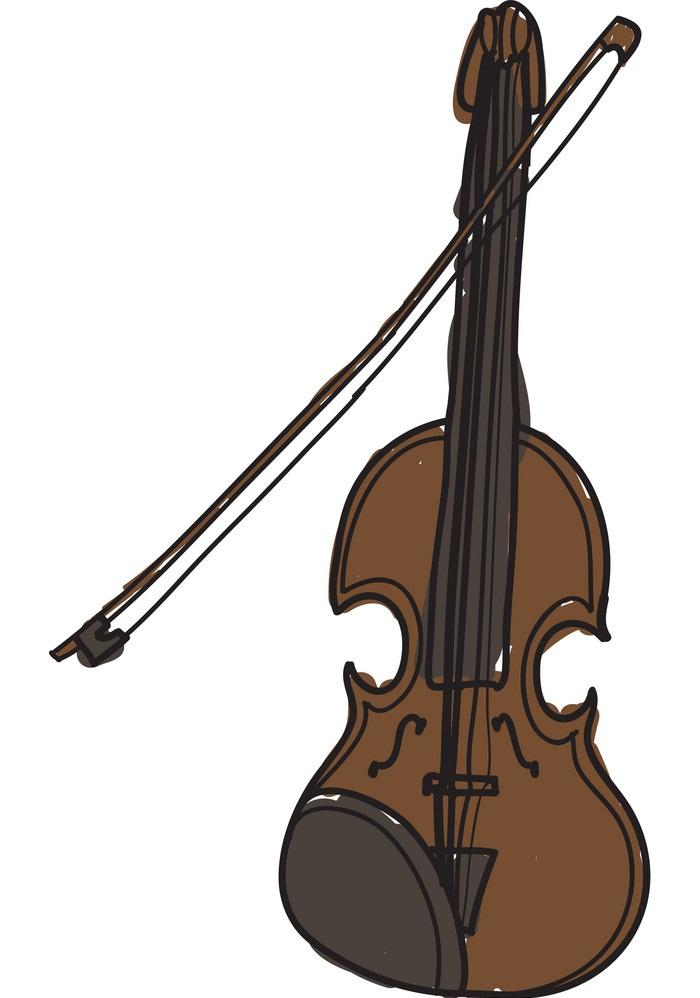hand drawn violin