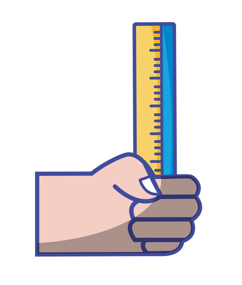 hand holding ruler icon
