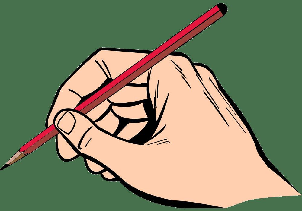 hand using pencil png transparent