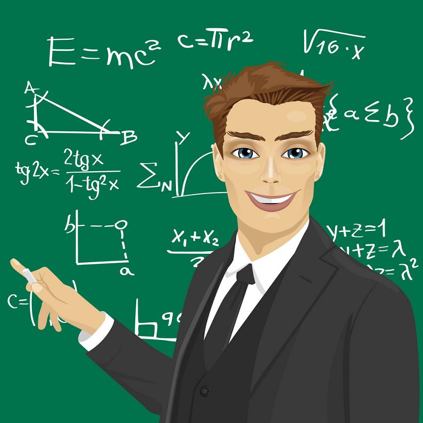 handsome math teacher png
