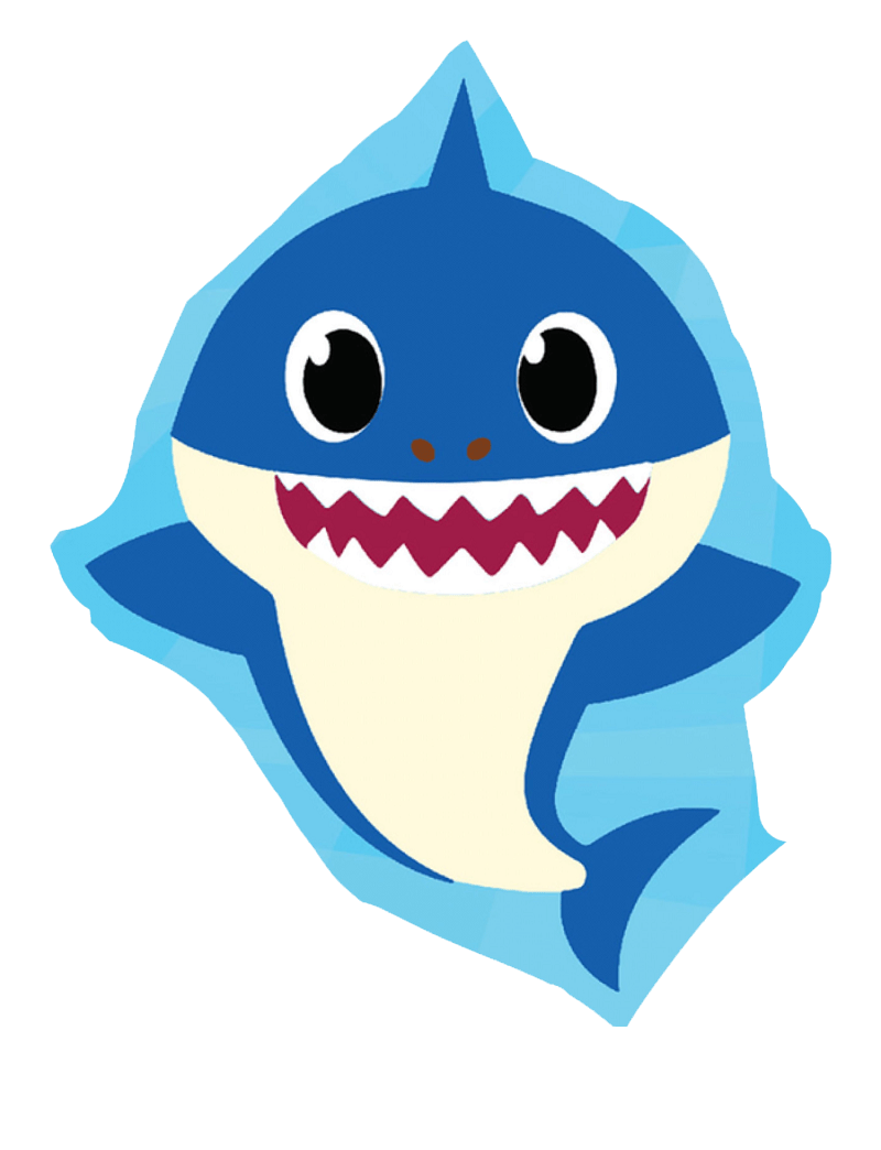 happy daddy shark png transparent