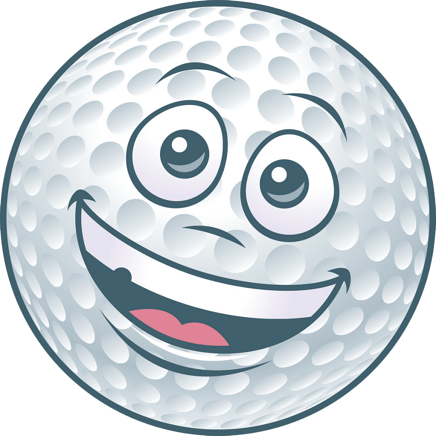 happy golf ball png transparent