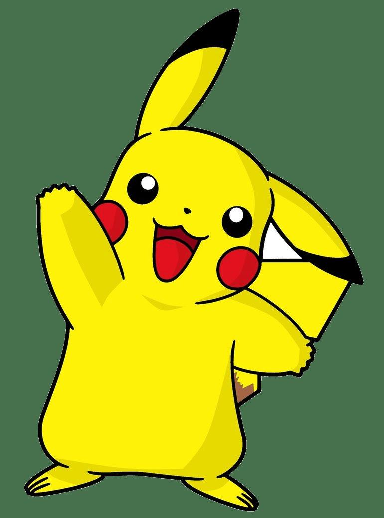 happy pikachu transparent