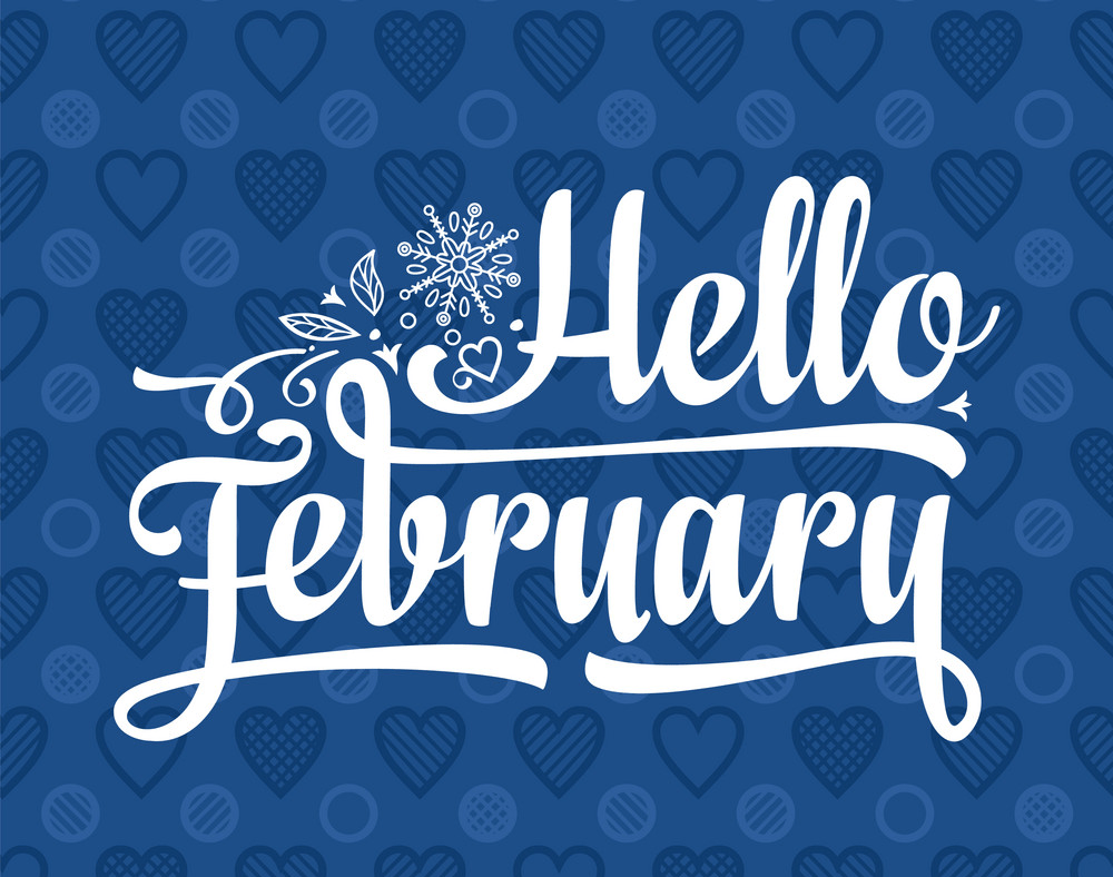 hello february card png