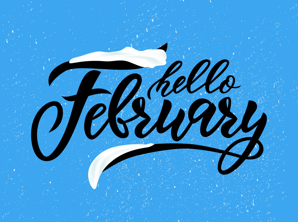 hello february handwritten png