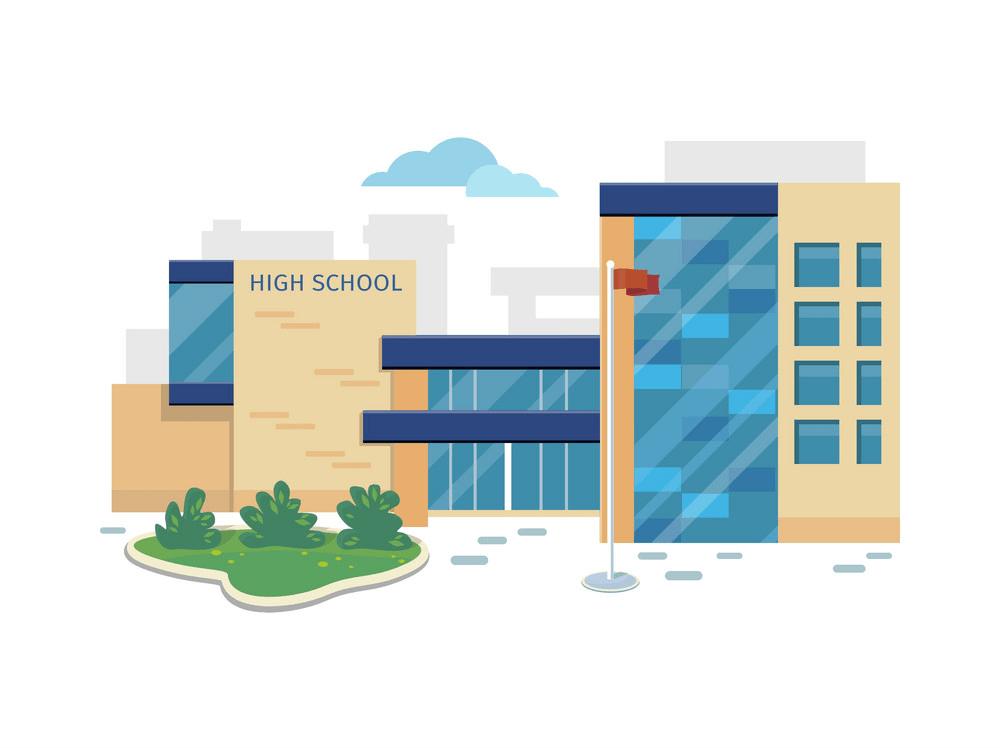 high school building png