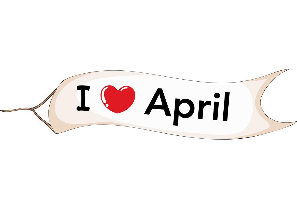 i love april png