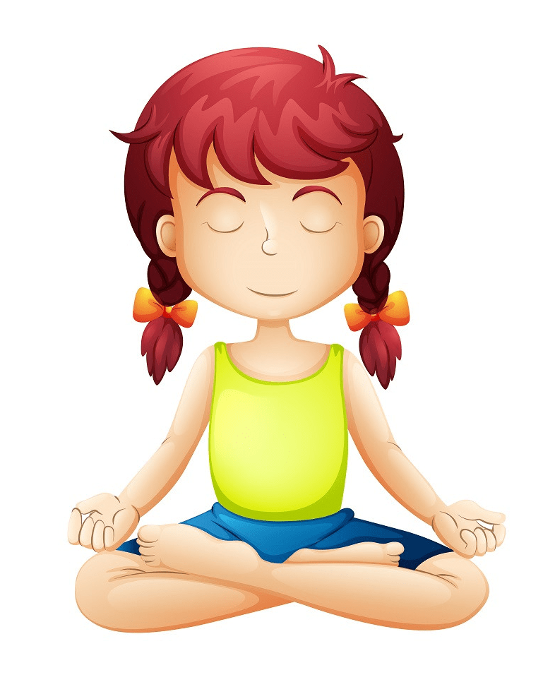 kid yoga meditation png