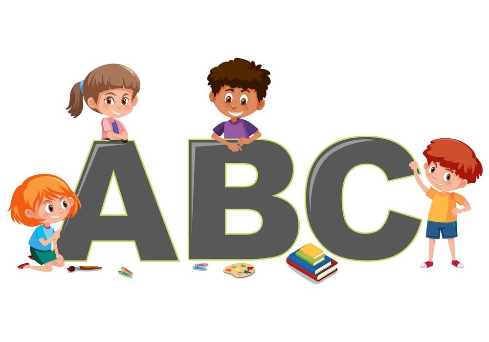 kids with alphabet