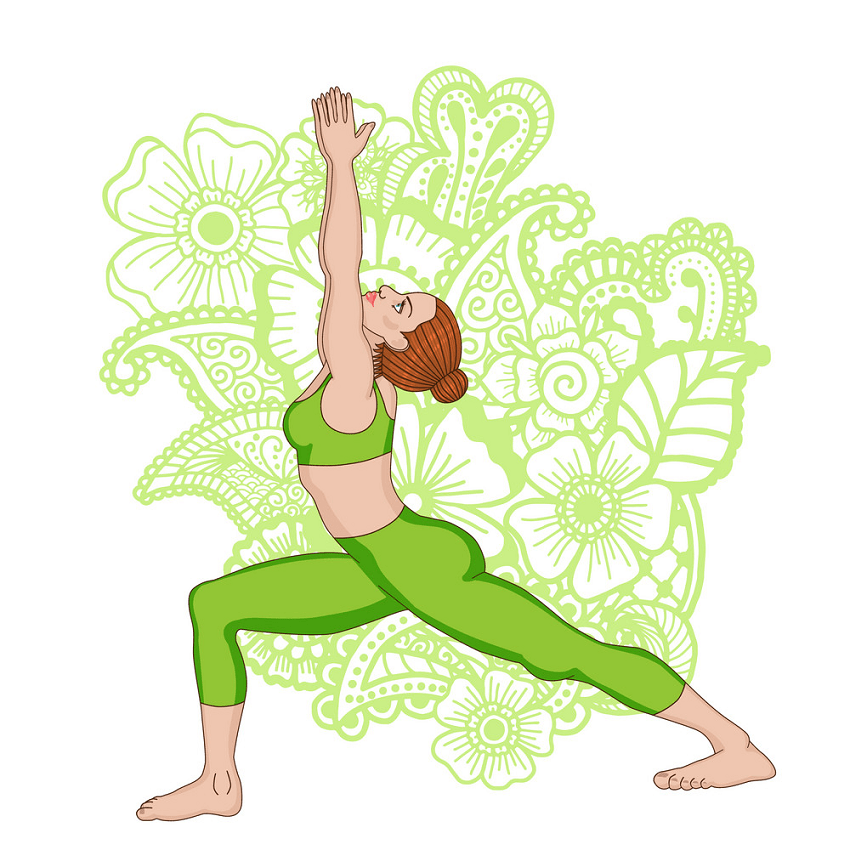 lady yoga pose png