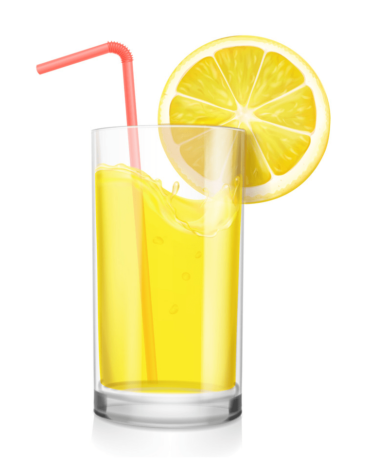 lemonade glass with straw png