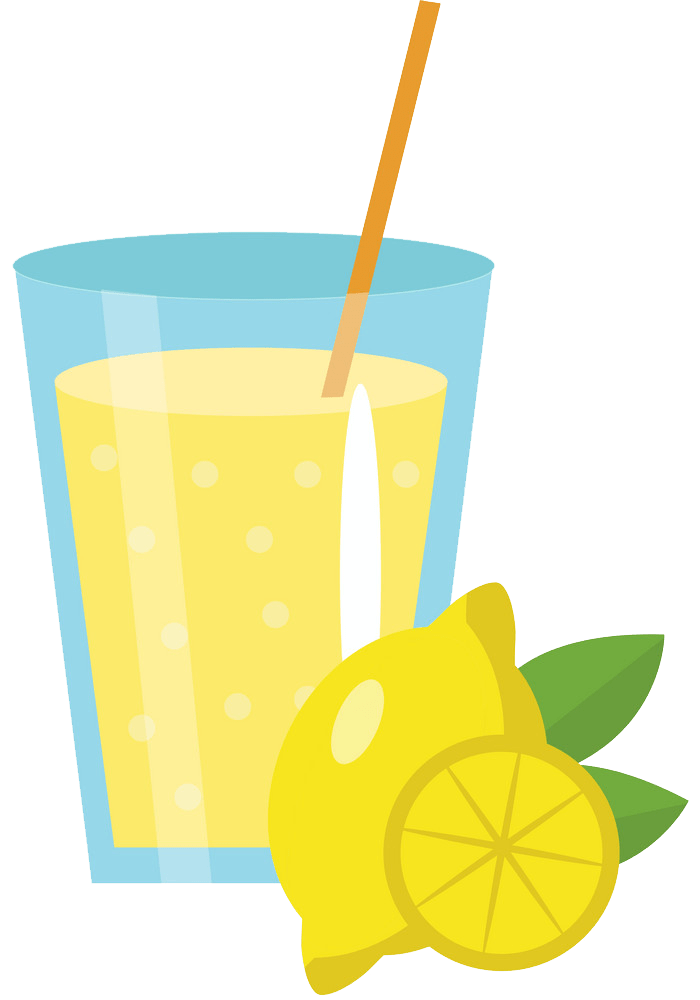 lemonade in glass png transparent