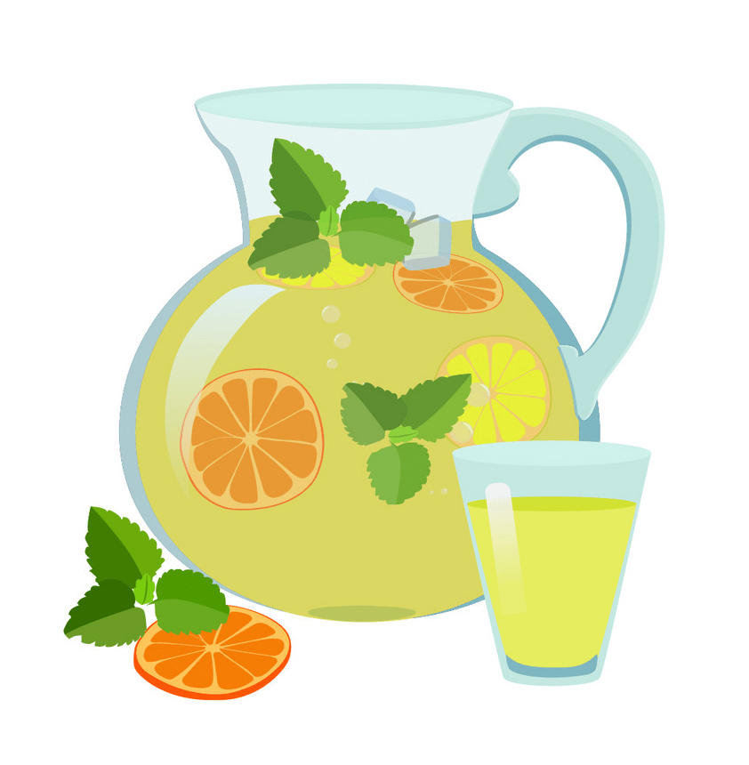 lemonade jug and glass png