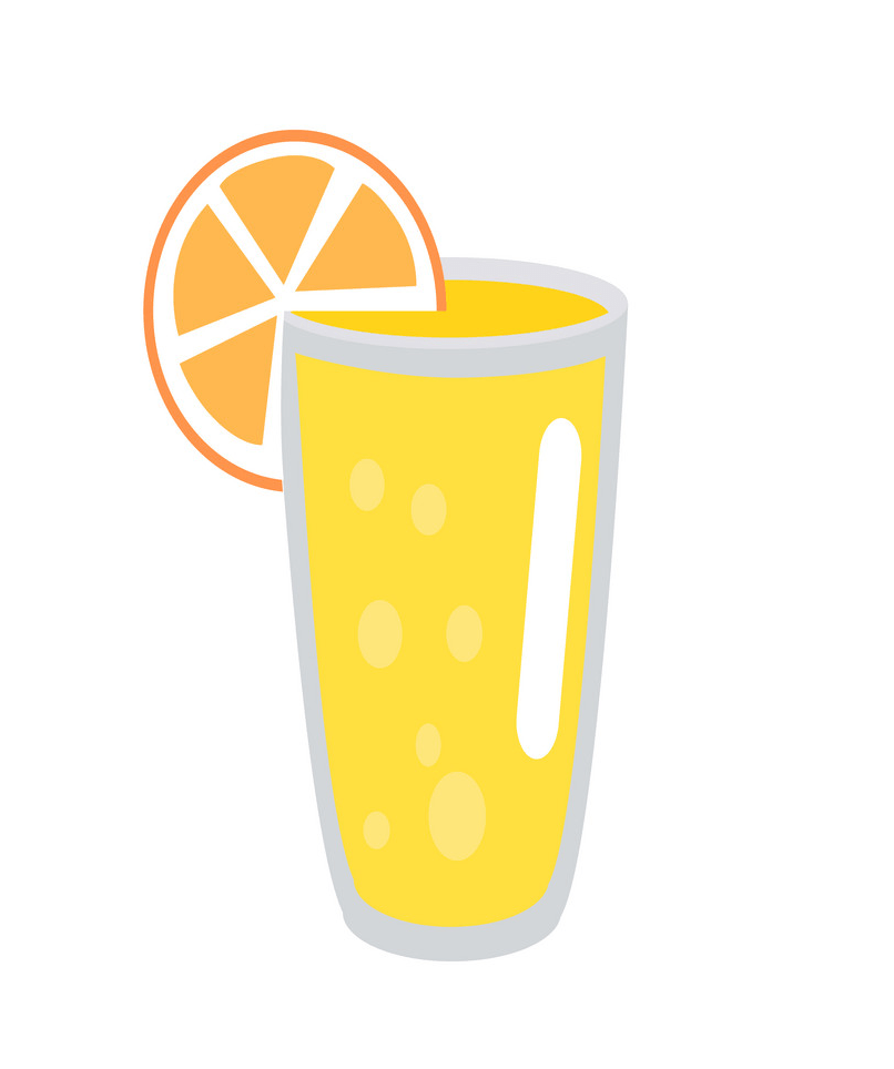 lemonade with orange slice in glass png