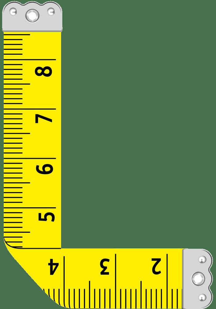 letter l ruler png transparent