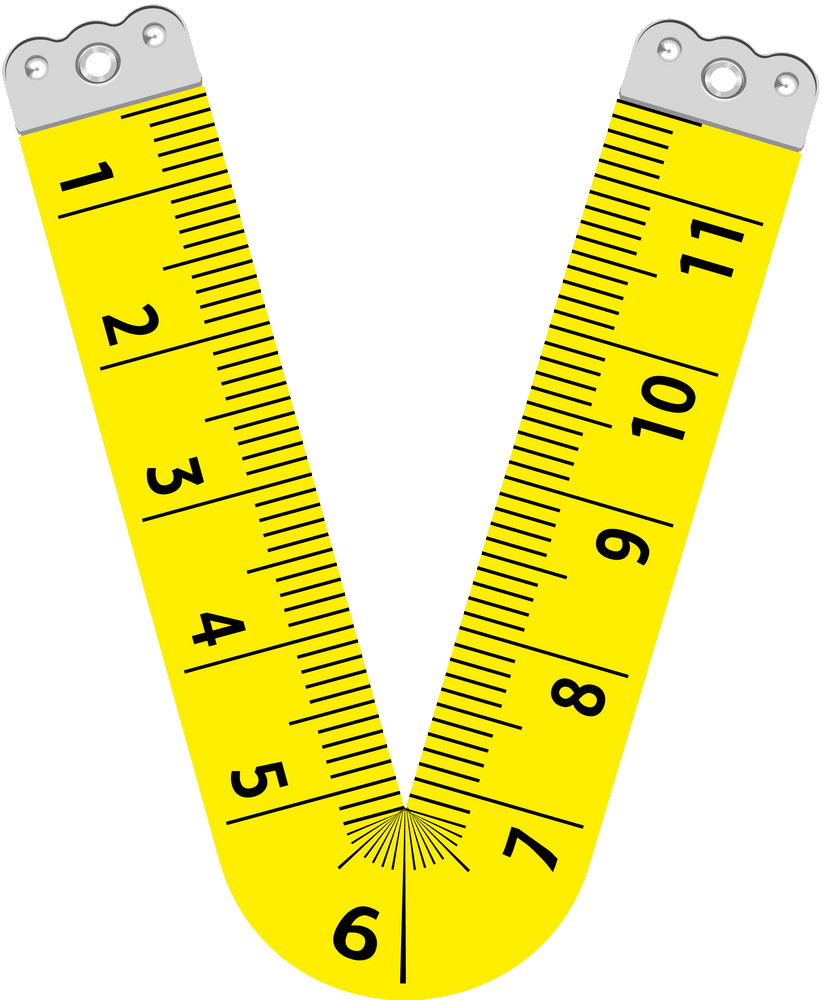 letter v ruler png transparent