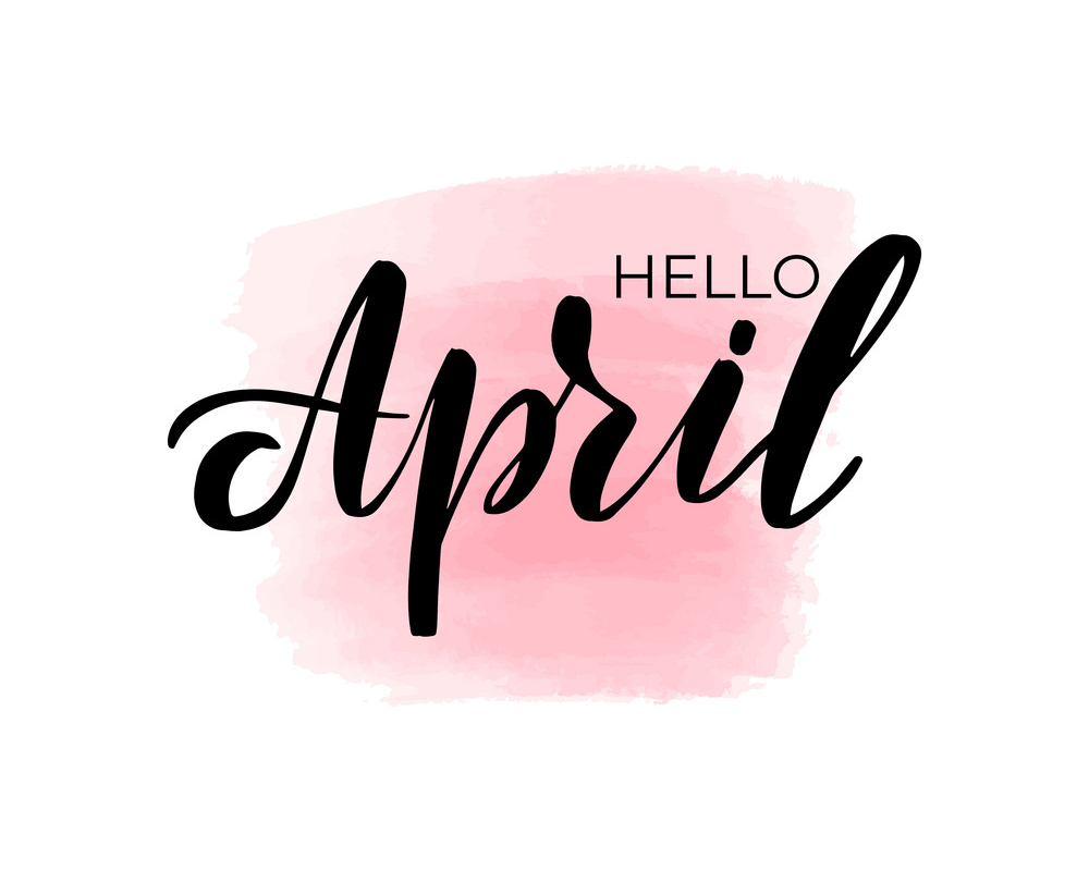 lettering hello april png
