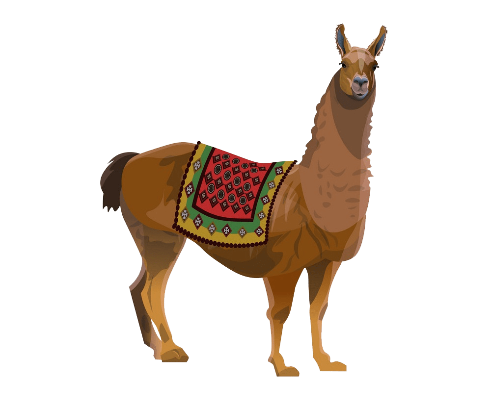 llama with a blanket png transparent