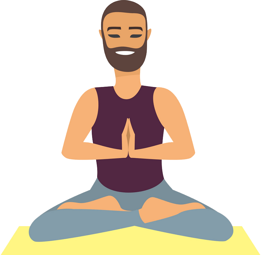 man doing yoga png transparent