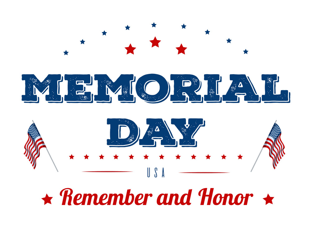 memorial day typography design png