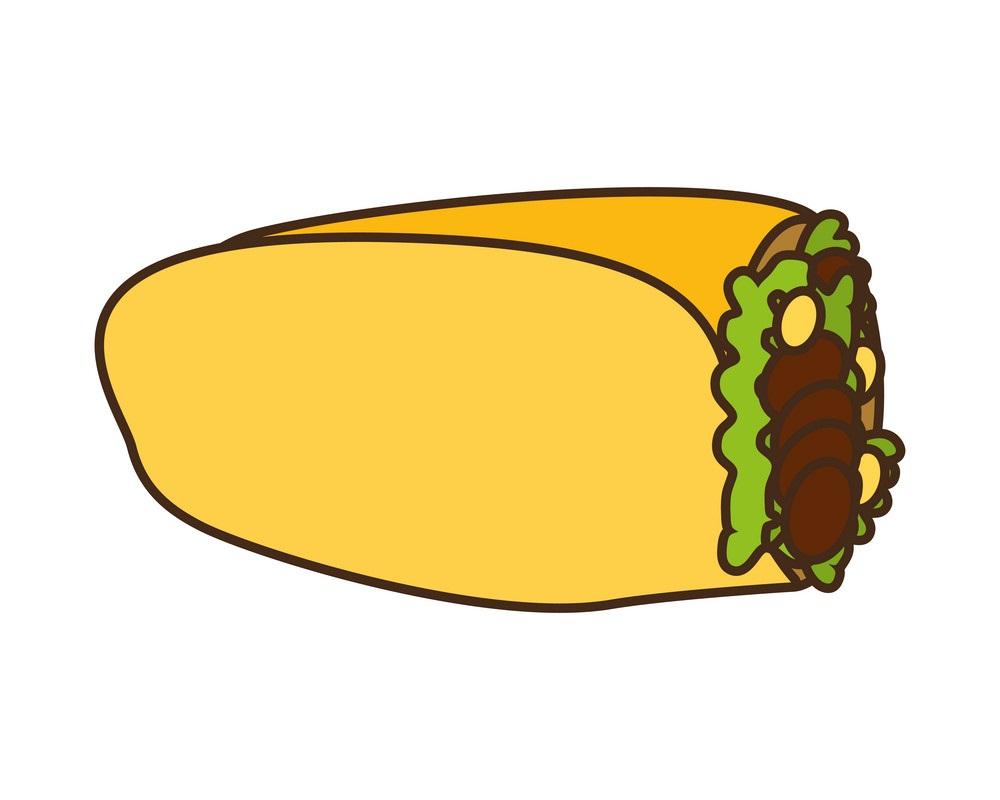 mexican burrito snack