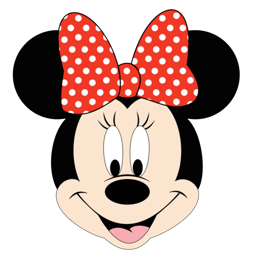 minnie mouse face png transparent