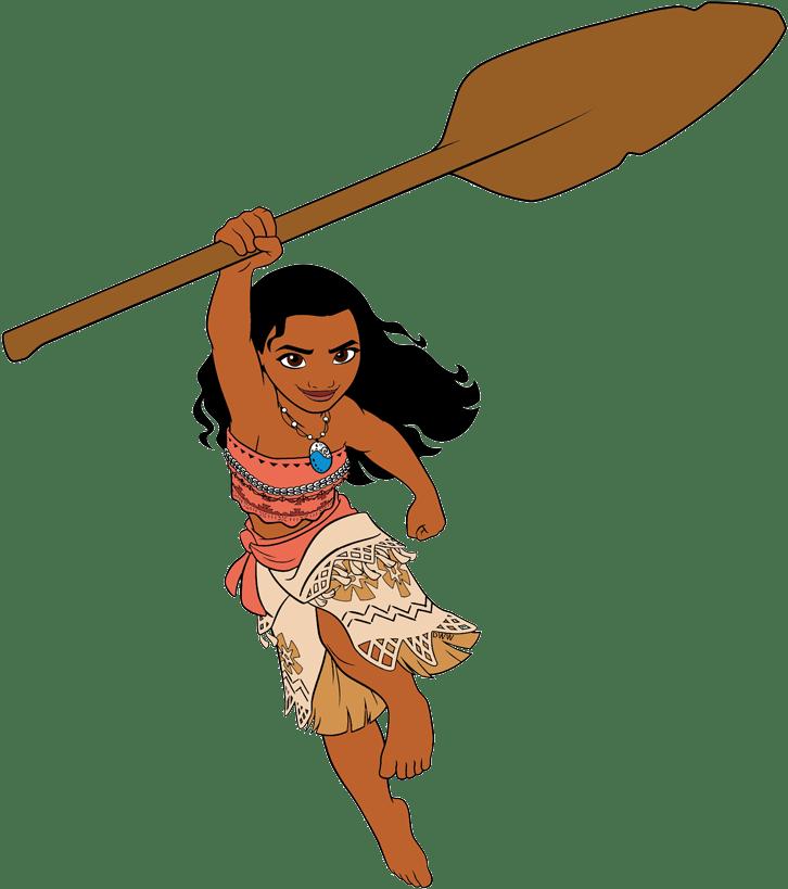 moana holding paddle transparent