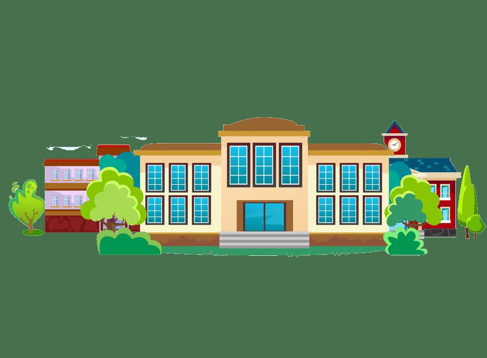 modern school building png trasnparent