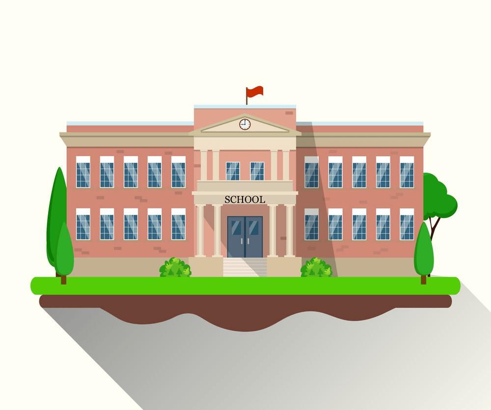 modern school building png