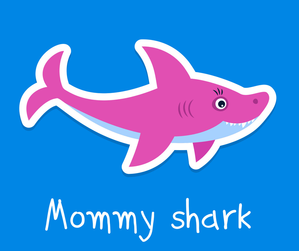 mommy shark png