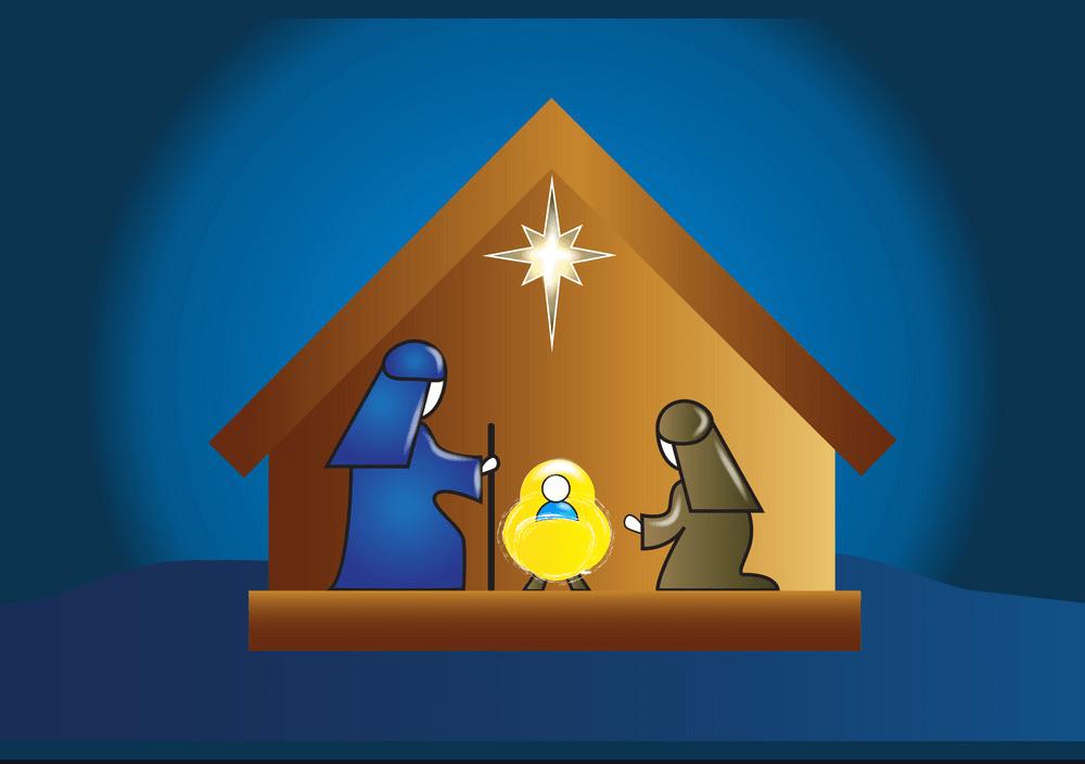 nativity family scene png