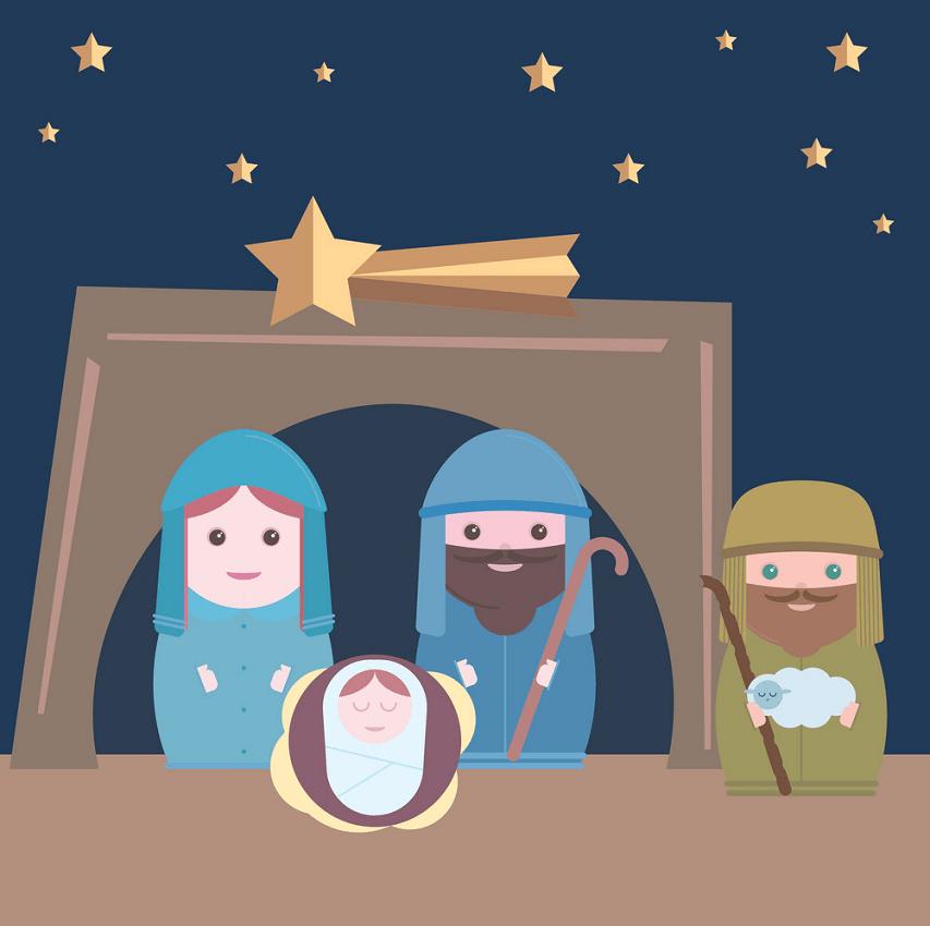 nativity flat design png