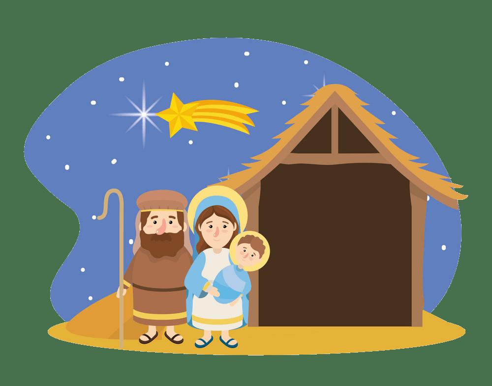 nativity scene transparent