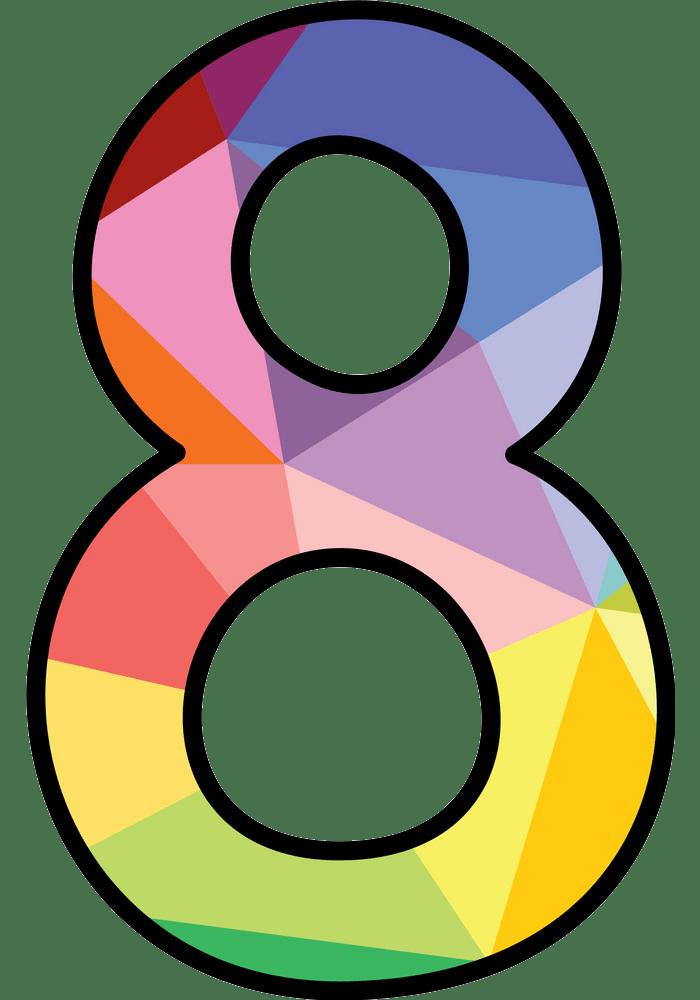 number 8 png transparent