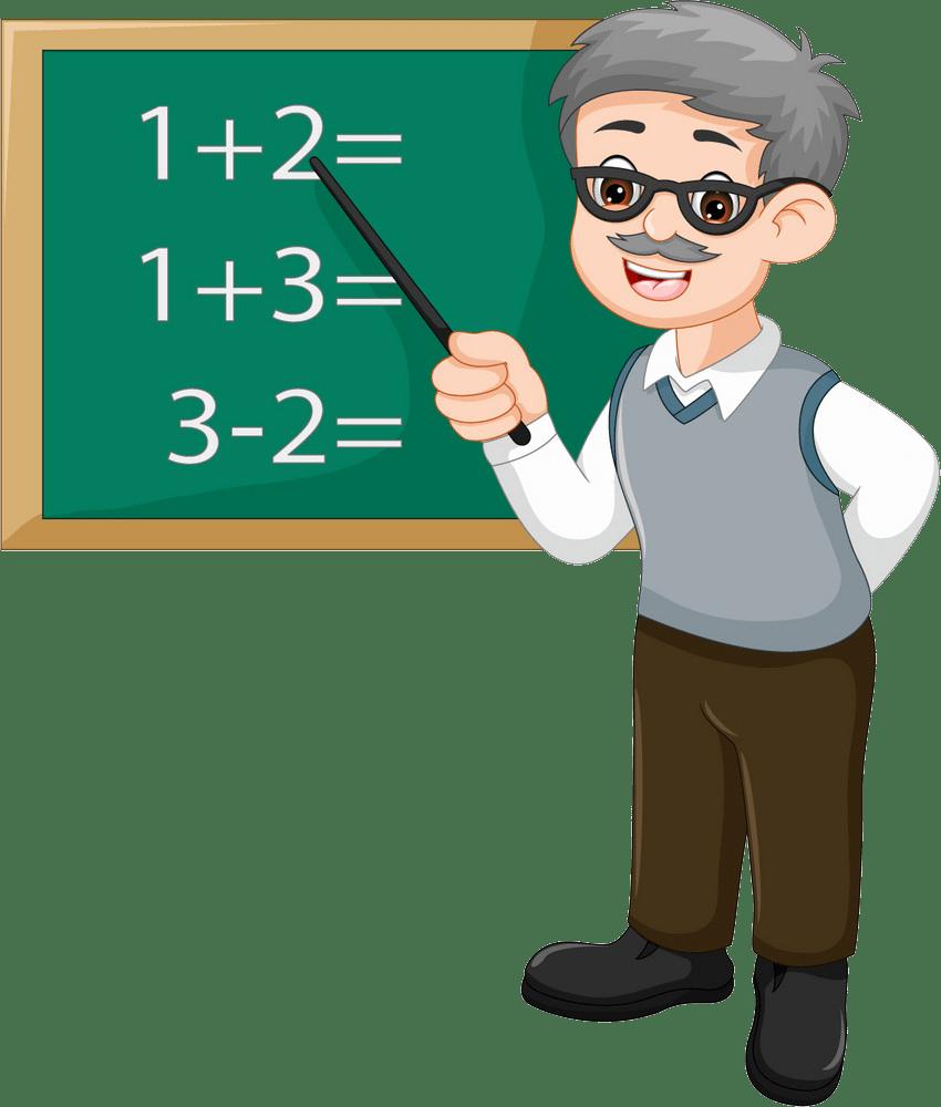 old math teacher png transparent